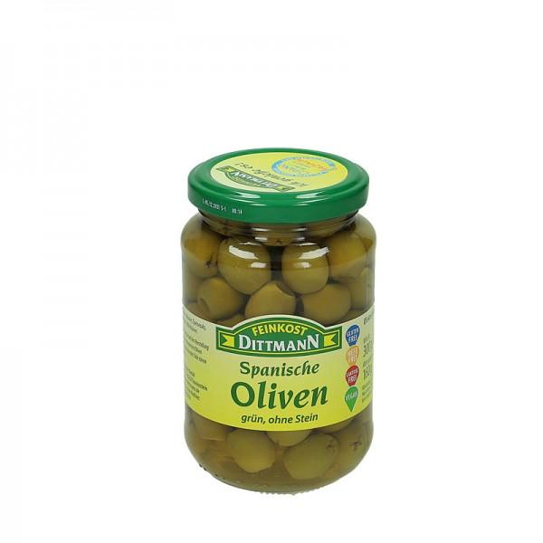 Dittmann Spanische Oliven grün ohne Stein 300g